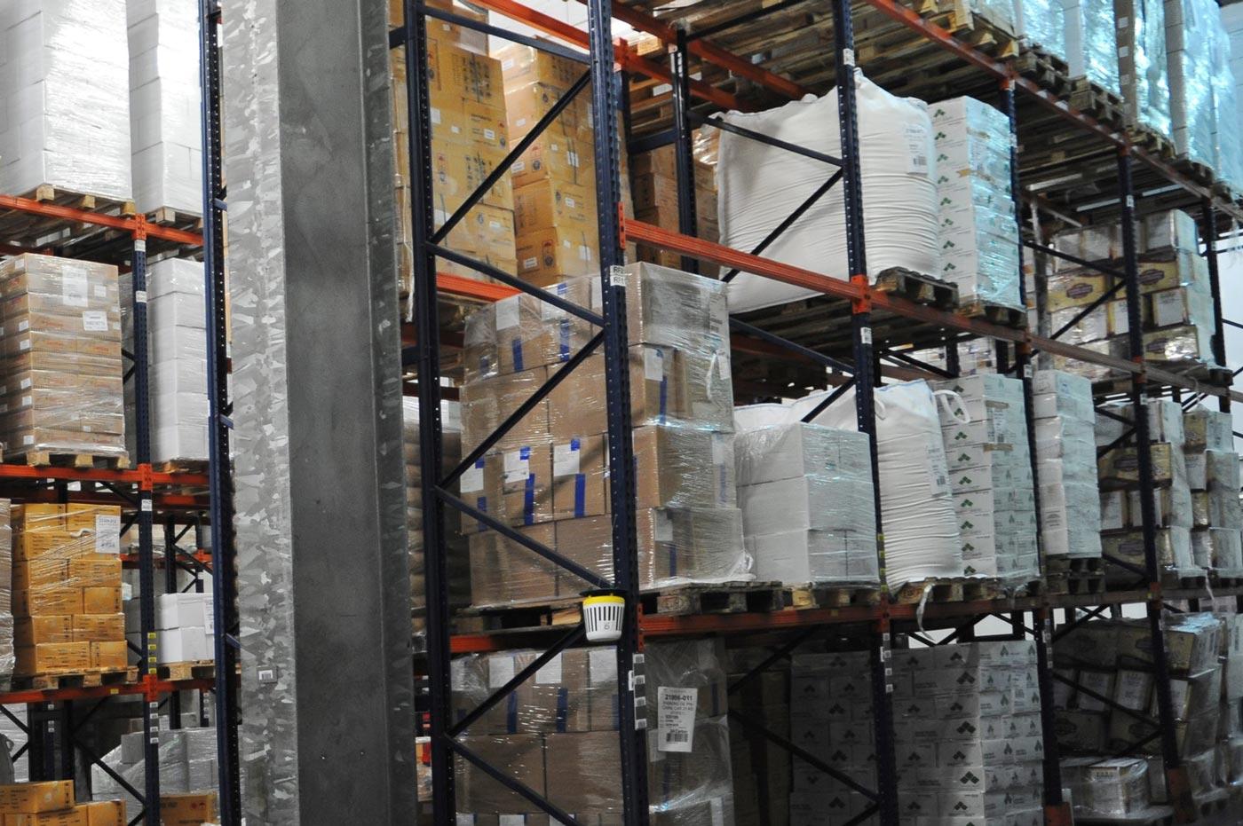 stockage des matières premières